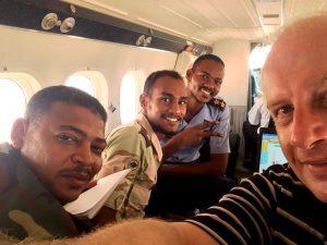 aerial survey air crew Riegl LiDAR flight africa