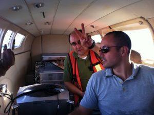 aerial survey crew Ultracam Training flight