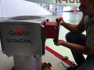 installation IMU in Vexcel Ultracam digital aerial camera IGI Aerocontrol