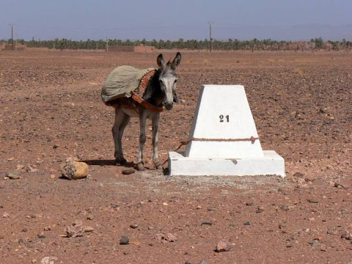 GPS Base Station, photographed in Morocco.