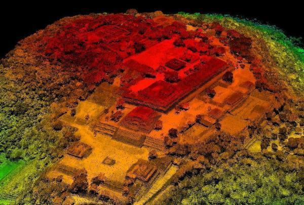 Lidar Pyramids in Xochicalco (courtesy of GeoAir, Mexico)