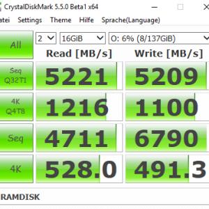 CrystalDiskMark Ramdisk to RAMDISK
