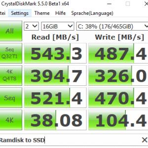 CrystalDiskMark Ramdisk to SSD