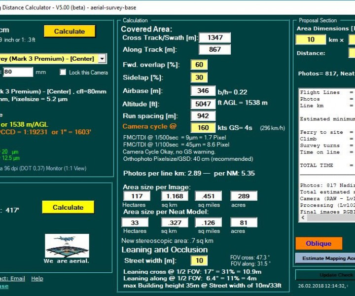 GSD Calculator Archive – aerial-survey-base com
